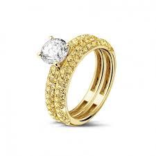 alliance en or bagues de fiançailles diamant or jaune ensemble 1 00 baunat