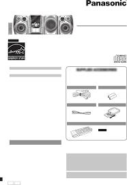 panasonic stereo system sc ak640 user guide manualsonline com