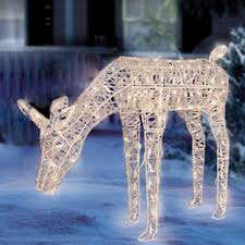 Christmas Yard Decorations For Sale by Christmas Lawn Decorations Ice Crystal Animated Illuminated