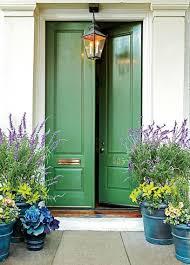 feng shui of front door colors green and brown