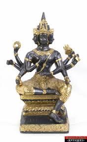 God Statue Phra Phrom 4 Face Erawan Shrine Brahma Hindu God Statue Old
