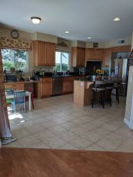 what color flooring looks best with maple cabinets what lvt color choice for honey maple cabinets for modern look