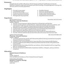 sle professional resume templates resume template fearsome physician exles objective emergency cv