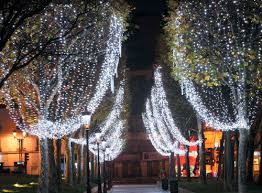 led light garland for spaces snowfall blachere