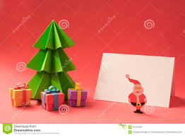 merry christmas paper cut handmade card template stock photo