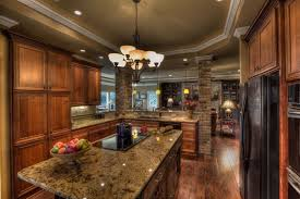 country kitchen with undermount sink u0026 complex granite counters