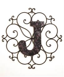 monogram letters home decor monogram bronze look metal wall art hanging decor scrollwork frame