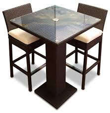 Wicker Bistro Table And Chairs Gorgeous Bistro Bar Table And Chairs 3 Outdoor Bar Table Set