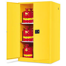 Yellow Flammable Storage Cabinet Standard Flammable Storage Cabinet Manual Doors Yellow 60