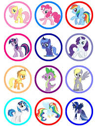 my pony cupcakes my pony edible image cupcake toppers birthday cupcakes or