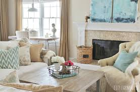 Mixing Furniture Styles by Diy Abstract Art U0026 Modern Coastal Family Room Tour City Farmhouse