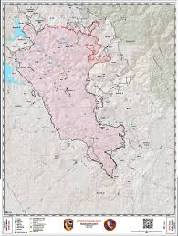 California Wildfire Fire Map by Daily Operations Map For Detwiler Wildfire In Mariposa County For