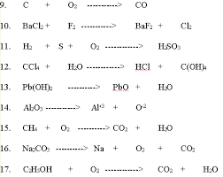 worksheet on single and double replacement reactions free