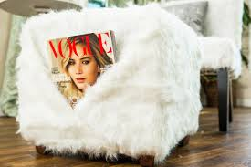 Faux Fur Ottoman How To Diy Faux Fur Chair Ottoman Home Family Hallmark