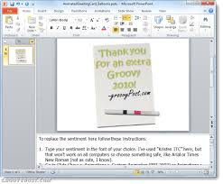 how to create a groovy custom e card with powerpoint 2010