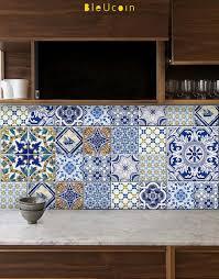 Removable Kitchen Backsplash Portuguese Kitchen Bathroom Tile Wall Door Cabinets Floor