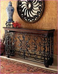 Iron Console Table with Wrought Iron Console Table With Glass Top U2013 Launchwith Me