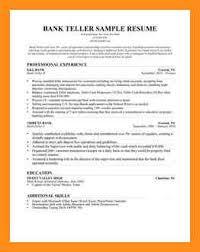 Teller Resume Bank Teller Resume Examples Bank Teller Resume Sample Great