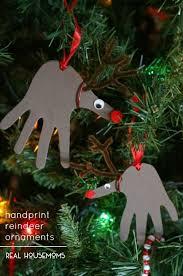 reindeer ornaments handprint reindeer ornaments real housemoms