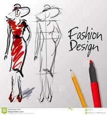 fashion design sketches stock vector image of illustration 36126720