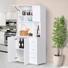 large white kitchen storage cabinet giantex buffet sideboard kitchen island cabinet with 2