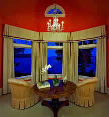 inverted box pleated valances family room traditional with
