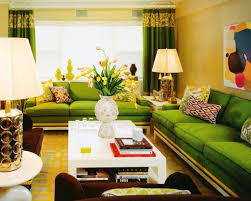 yellow walls living room paint color ideas for living room with green couch