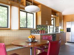 Tiled Kitchen Ideas Contemporary Kitchen Combined With Minimalist Dining Space
