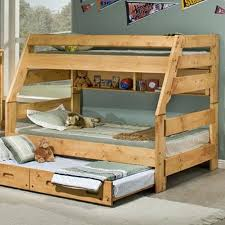 Trendwood Bunkhouse TwinFull High Sierra Bunk Bed Wayside - Full and twin bunk bed