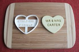 wedding cookie cutters custom mr and mrs wedding cookie cutter engagement biscuit
