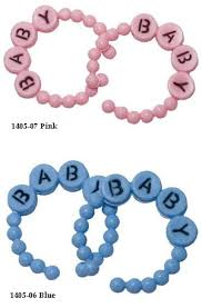 Baby Shower Bracelets - plastic baby bracelet set of 10 baby shower favors baby