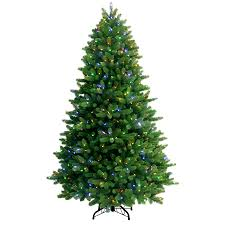 shop ge 7 5 ft pre lit spruce artificial tree with color