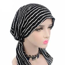 chemo hats with hair attached women stretch muslim hair loss head scarf head wrap turban cancer