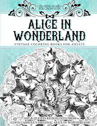 amazon com coloring books for grownups alice in wonderland