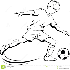 soccer player clipart black and white u2013 101 clip art