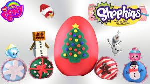 surprise christmas play doh cupcakes giant christmas play doh egg