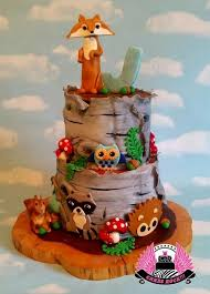 woodland animals baby shower cake by cakes rock u2026see the cake