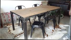 deco industrielle atelier table salle a manger style industriel galerie avec salle manger
