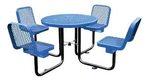 round picnic tables for sale 36 round thermoplastic picnic table with 4 backed seats portable