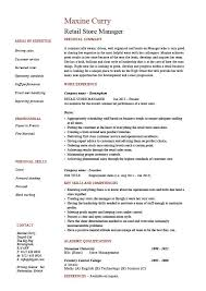 Resume Sample For Retail by Retail Store Manager Resume Job Description Sample Example