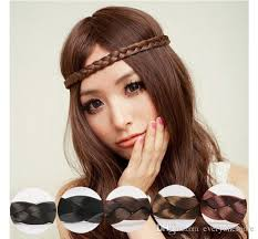 braided hair headband elastic hairband women wig braid braided hair accessories