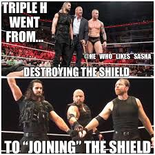 Dean Ambrose Memes - it s so strange to see triple h in shield attire considering all
