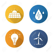 solar panels clipart eco energy flat design long shadow icons set solar panels