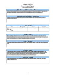 Project Weekly Status Report Template Excel Sle Weekly Status Report Project Status Report Template