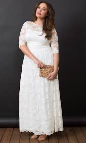 wedding dresses plus size plus size wedding dress lace illusion gown kiyonna