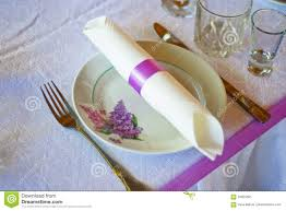 table setting for fine dining or party cutlery and plate