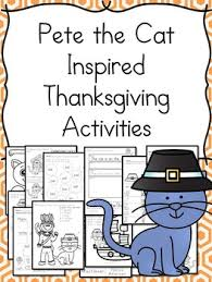 inspired by pete the cat thanksgiving activities for kindergarten