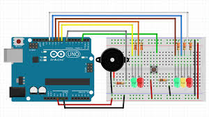 4 way traffic light using arduino building a traffic light system with a button and speaker