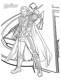 Avengers Character Thor Coloring Page Download Print Online Thor Coloring Page