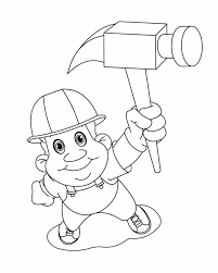 construction tools coloring pages construction worker on labor day coloring page color luna